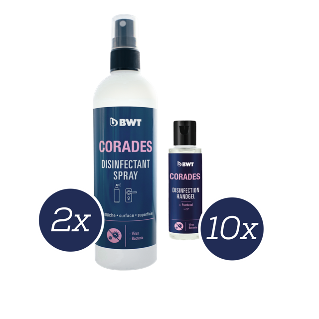 Set Corades Desinfection 50ml Flacon 250ml Spray