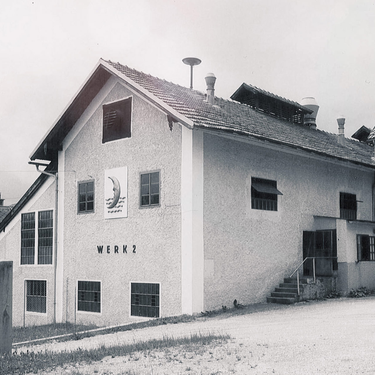 Old Photo of first factory building