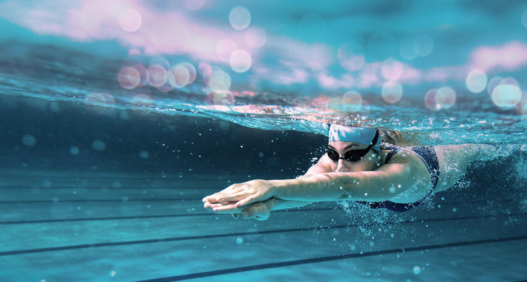 Underwatershot Of Swimmer In A Pool Underwatershot ...