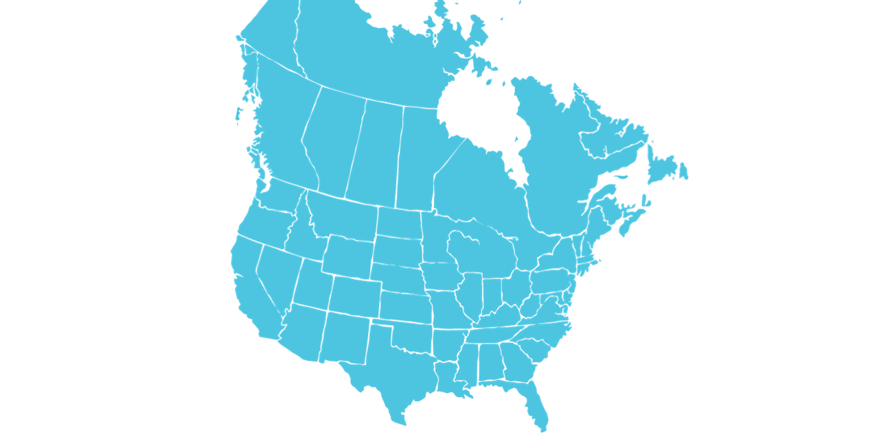 US canada map